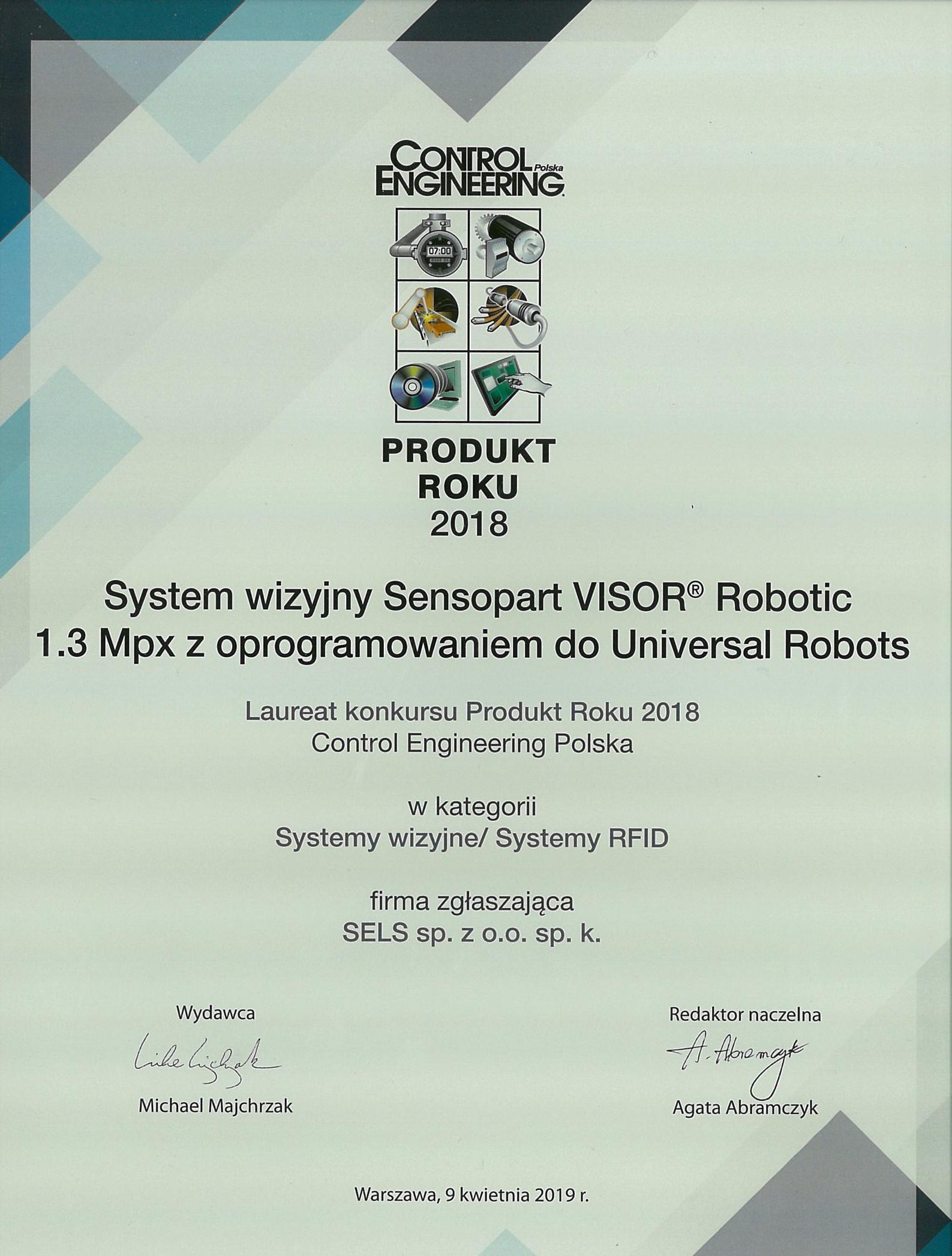 VISOR ROBOTIC_produkt roku 2018